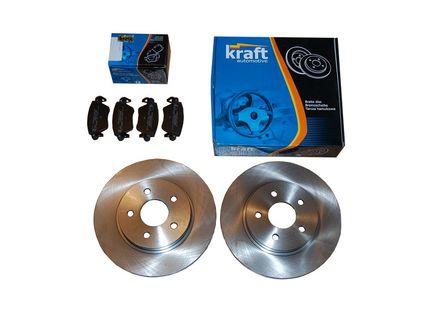 KRAFT tarcze + klocki FORD MONDEO III / Mk3 tył