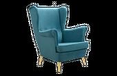 Fotel tapicerowany USZAK skandynawski pikowany SZYBKA DOSTAWA kolory zdjęcie 2