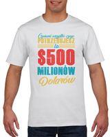 Koszulka męska 500 milionów dolarów L Biały