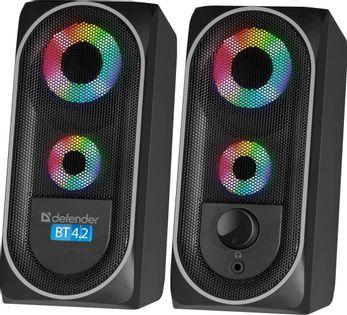 Głośniki Defender SOLAR 4 2.0 8W Bluetooth USB podświetlenie LED