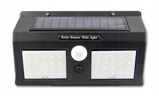 Lampa Solarna LED czujnik ruchu zmierzchu PODWÓJNA