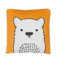 Bawełniana poduszka dla dzieci miś 45 x 45 cm pomarańczowa WARANASI