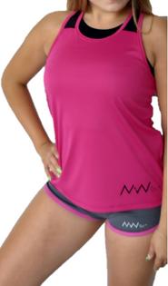 Bokserka wstawi panelowe pink&black XS
