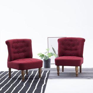 Krzesło w stylu francuskim, czerwone wino, materiałowe