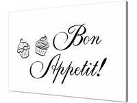 Obraz z napisem Bon Appetit muffin  120x80cm