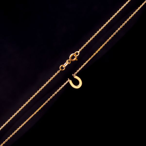 Złoty Naszyjnik Celebrytka Podkowa Grawer zdjęcie 5