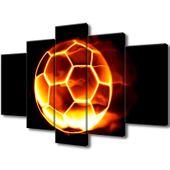 Obraz Na Ścianę 100X63 Ognista Piłka Piłka Nożna