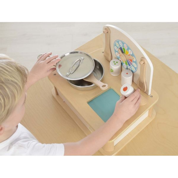 Drewniana Mini Kuchenka Dla Dzieci Masterkidz + Akcesoria zdjęcie 5