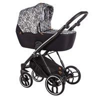 Wózek dziecięcy wielofunkcyjny La Rosa Baby Merc zestaw 2w1 czarno-biały