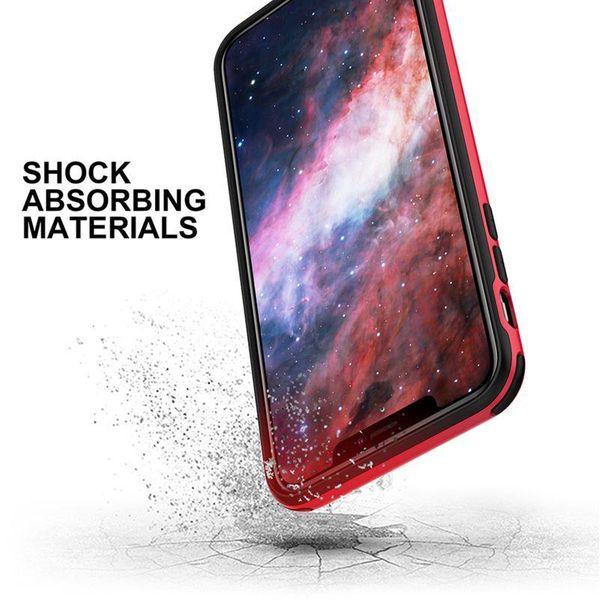 Zizo Fuse Case Etui ochronne iPhone Xs Max + szkło na ekran (czerwone/czarne) zdjęcie 2