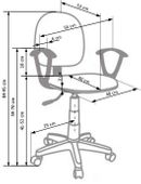 DARIAN BIS HALMAR dziecięce krzesło obrotowe DZIECIĘCY fotel do biurka zdjęcie 2