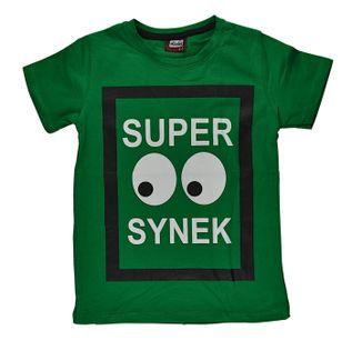 Koszulka Super Synek zielona, bawełna roz.116