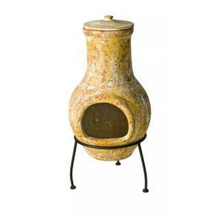 TAMPICO gliniany, żółty kominek żółty