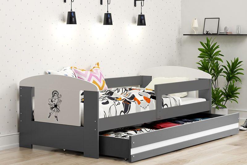 Łóżko pojedyncze FILIP 160x80 dla dzieci + SZUFLADA + BARIERKA zdjęcie 6