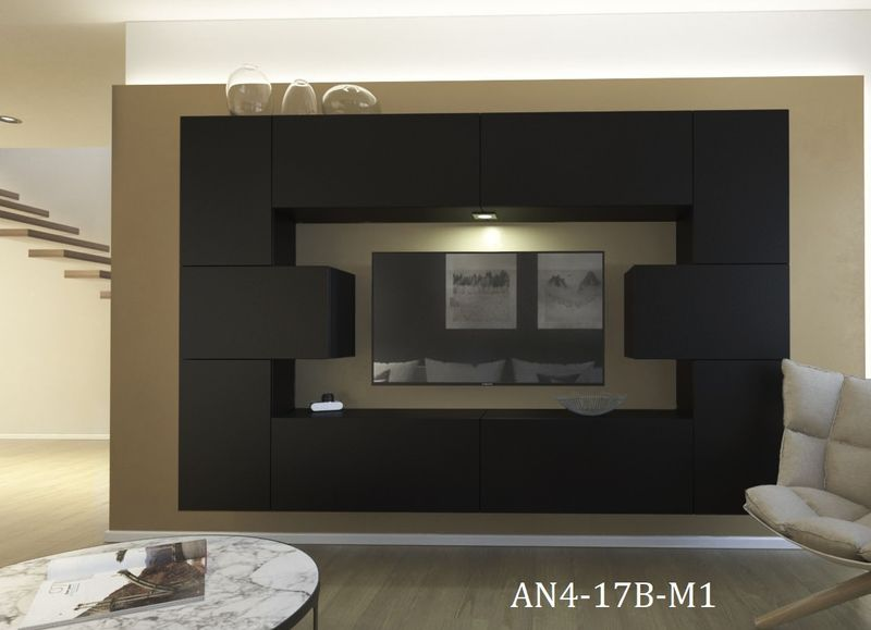 Meble Do Salonu I Sypialni Monaco N4 Mat Oświetlenie Led Sonoma