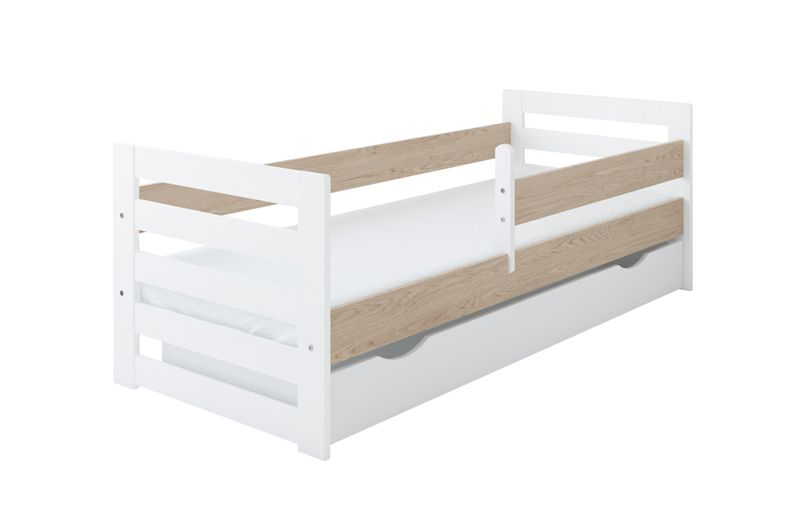 Łóżko HAPPY 160 x 80 szuflada + barierka ochronna + MATERAC GRATIS na Arena.pl