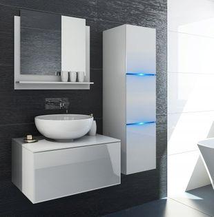 Meble łazienkowe szafki biały połysk zestaw