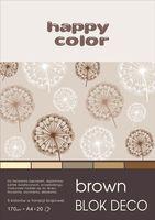 Blok techniczny kolorowy Deco brązowy A4 Happy Color