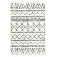 Dywanik shaggy, wzór berberyjski, PP, beżowo-szary, 120x170 cm