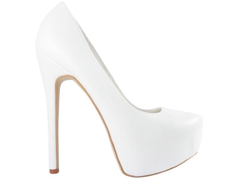 8499d096 Białe szpilki na platformie matowe buty ślubne 39 • Arena.pl