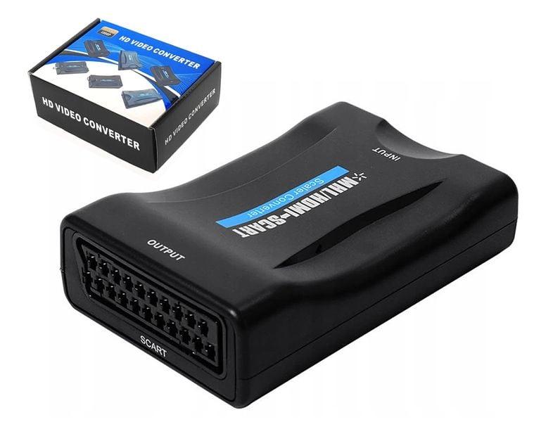 Adapter HDMI do AV Euro SCART konwerter na dekoder komputer odtwarzacz na Arena.pl