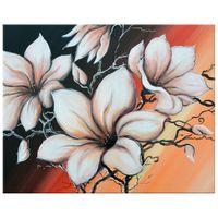 OBRAZ DRUKOWANY  Magnolia o zachodzie słońca 50x40