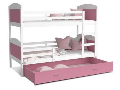 Łóżko piętrowe MATEUSZ 200x90  szuflada + materace