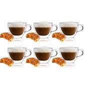 Szklanki Termiczne z Podwójna Ścianką Cappuccino 300ml Vialli 6 sztuk zdjęcie 1