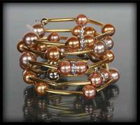 Złota bransoletka z pereł w dwóch kolorach