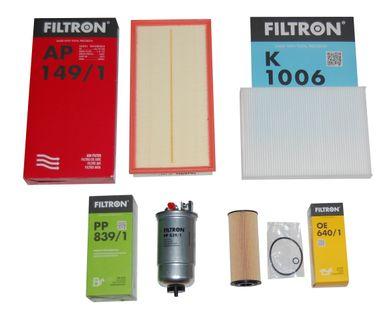 zestaw filtrów GOLF 4 BORA 1.9 TDi OCTAVIA LEON A3