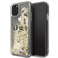 Karl Lagerfeld KLHCN65ROGO iPhone 11 Pro Max czarno-złoty/black & gold hard case Glitter