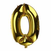 BALON foliowy 0 CYFRA 0-9 złota ogromna 100cm urodziny