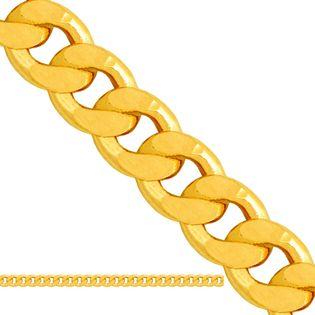 łańcuszek pełny typu pancerka złoto 585/14k