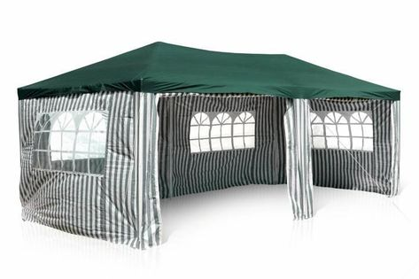 Namiot ogrodowy 3x6 m, biało-zielony pawilon handlowy