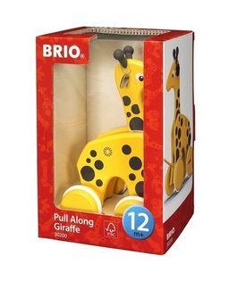 BRIO Drewniana Zabawka do Ciągnięcia Żyrafa