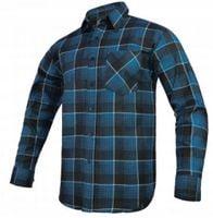Koszula flanelowa MODAR niebieska R-41