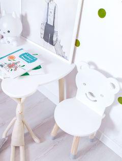 Krzesło krzesełko na drewnianych nogach Miś