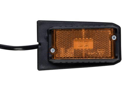 Lampa obrysowa LED żółta DPT15 z uchwytem i kablem