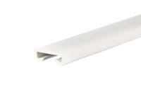 Listwa poręczowa PCV PREMIUM, poręczówka 40x8mm biały 1mb