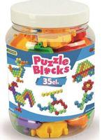 Klocki Puzzle słoik  35 szt. WADER 41950
