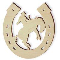 drewniana PODKOWA z koniem RODEO ozdoba dekoracja