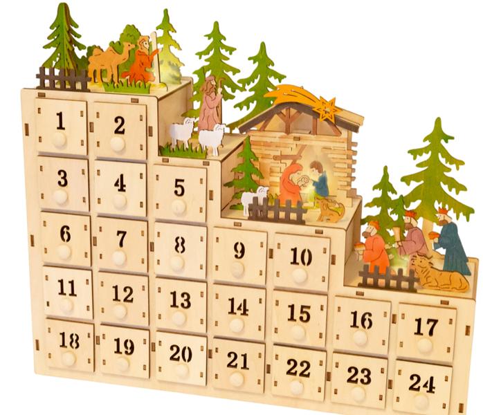 Kalendarz adwentowy z oświetleniem LED Kaskada zdjęcie 2