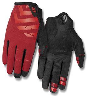 Rękawiczki męskie GIRO DND długi palec dark red birght red roz. XXL (obwód dłoni od 267 mm / dł. dłoni od 211 mm) (DWZ)