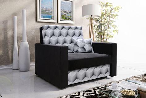 Fotel rozkładany Smart I sofa,pojemnik, amerykanka