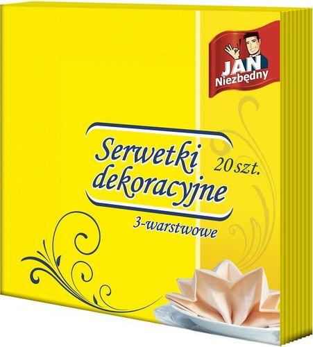 Jan Niezbędny  Serwetki Dekoracyjne - Żółte (40X40) - 20 Sztuk na Arena.pl