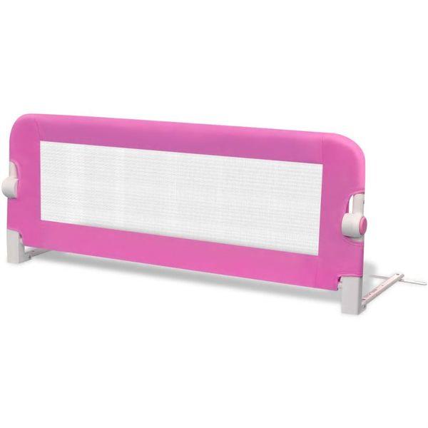Barierka ochronna do łóżeczka 102 x 42 cm różowa zdjęcie 2