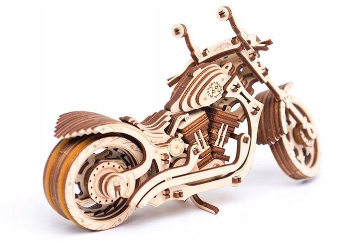 Motocykl Mechaniczne Puzzle 3D Drewniane Wooden City zdjęcie 9
