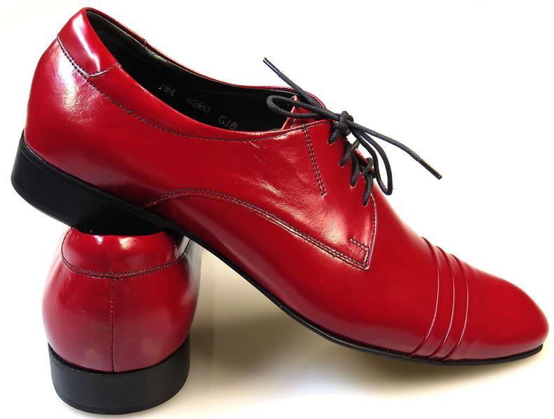 a78909a3e9d48 Czerwone buty męskie wizytowe T28 Rozmiar Obuwia - 39 • Arena.pl