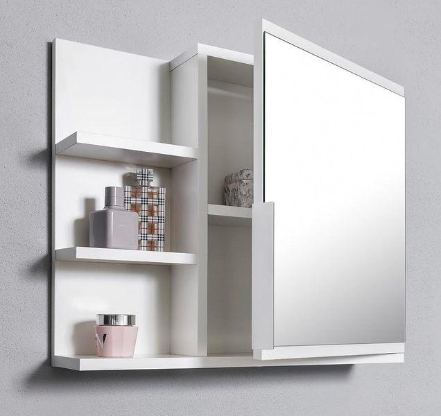 Biała szafka z lustrem do łazienki lewa, z 3 półkami, nowa zdjęcie 3