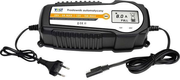 Prostownik automatyczny VOLT 10A LCD 12V/24V